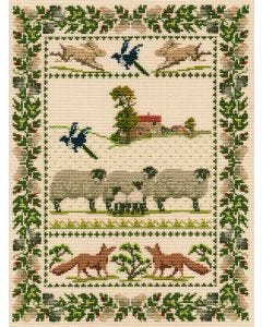 Country Life Sampler Counted Cross-Stitch