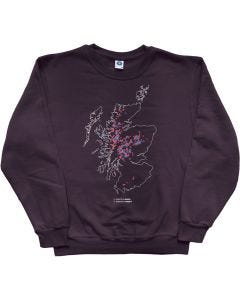 Munros and Corbetts Map Sweatshirt