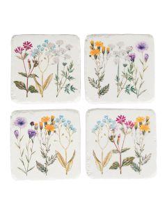Set of 4 Wildflower Coasters