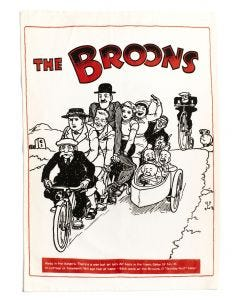 The Broons Tandem Tea Towel